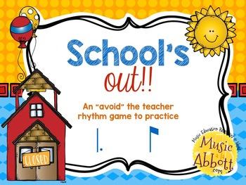 "School's Out! An ""Avoid The Teacher"" Rhythm Game {tam-ti/tom-ti)"