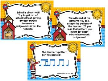 "School's Out! An ""Avoid The Teacher"" Rhythm Game {ti-tika/ti-titi)"