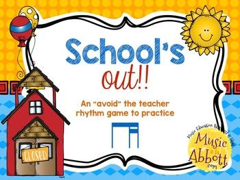 """School's Out! An """"Avoid The Teacher"""" Rhythm Game {ti-tika/"""