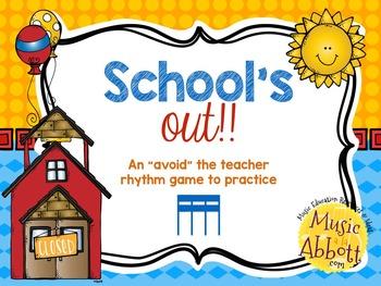 "School's Out! An ""Avoid The Teacher"" Rhythm Game {tika-tika/tiri-tiri)"