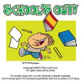 School's Out Cartoon Clipart
