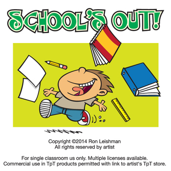 school s out cartoon clipart by ron leishman digital toonage tpt rh teacherspayteachers com school out clipart school s out clipart free