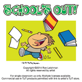 School's Out Cartoon Clipart