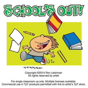 Schools Out Cartoon Clipart