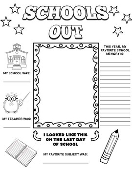 Schools Out Graphic Organizer