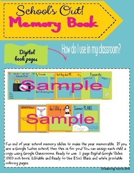 Schools Out! Memory Book