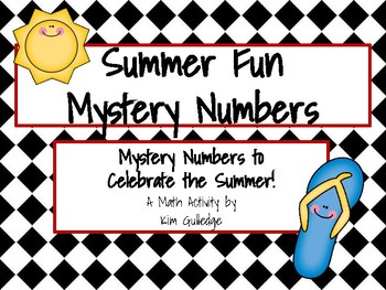 School's Out for Summer! Mystery Number - 8 Mathematical P