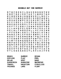 School's Out For Summer! Word Search