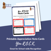 Appreciation Note Cards - celebrating students acts of kindness