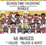 Schooltime Valentine Clip Art Big Bundle