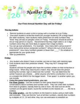 Number Day for Schools