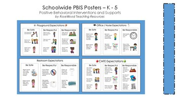 Schoolwide PBIS Posters - K-5