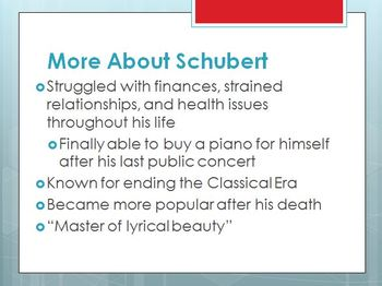 Schubert - Composer Minilesson