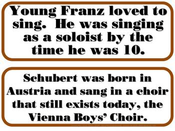 Schubert Composer of the Month (November) Bulletin Board Kit
