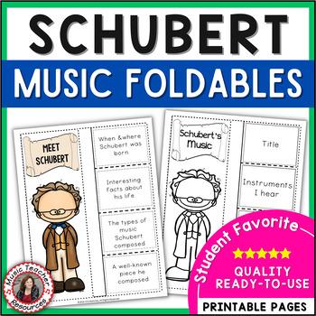 Music Listening: Composer SCHUBERT: Interactive Listening Journal Foldables