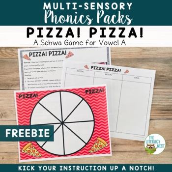 Orton-Gillingham Free Resource Schwa A Multisensory Phonics Game