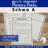 Schwa A Multisensory Phonics Practice Orton-Gillingham Lesson Materials