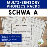 Schwa A Multisensory Phonics Practice Orton-Gillingham Les