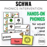 Schwa Sound Phonics Intervention Games