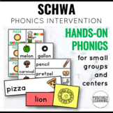 Schwa Sound Phonics Intervention Games