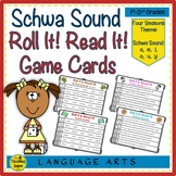 Schwa Sound Roll It! Read It! Game Cards