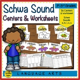 Schwa Sound Centers, Activities & Worksheets