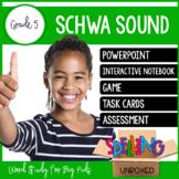 Schwa Sound Spelling Word Work Unit