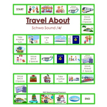 Schwa Sound: a file folder game