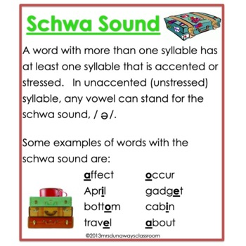 Schwa Sound A File Folder Game By Mrs Dunaways Classroom Tpt