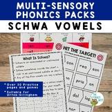 Schwa Vowels Multisensory Phonics Practice Orton-Gillingham