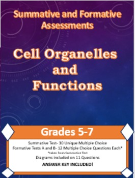 Sci Formative and Summative Assessments: Cell Organelles a