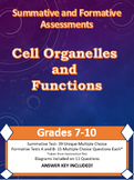 Sci Formative and Summative Assessments: Cell Organelles and Processes Grd 7-10