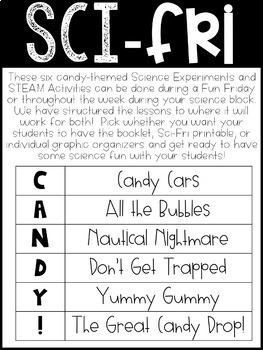Sci-Fri Candy Edition:  6 Hands-On Science Experiments and STEAM Activities