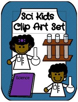 Sci Kids Clip Art