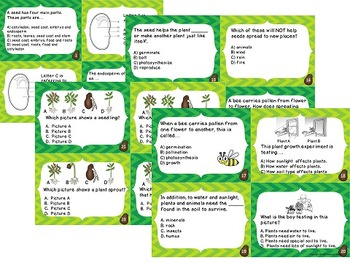 Science Files - Plants! Plants! Plants! Plant Life Task Card Bundle