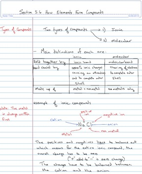 Science 10 Ch 5 notes, practice questions and assessment