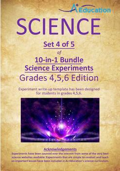 Science 10-IN-1 BUNDLE (Set 4 of 5) - Grades 4,5,6