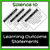 Science 10 Learning Outcome I Can Statement Posters (Alberta)