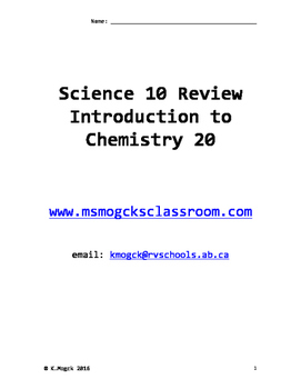 Science 10 Review Workbook 2016