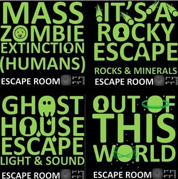Science -15 Projects-15 ESCAPE ROOMS BUNDLE (30 Hours, Print and Go, Answer Key)