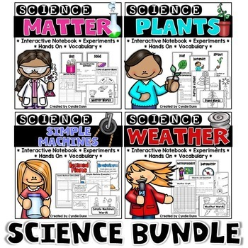 Matter, Plants, Weather, and Simple Machines Science Bundle
