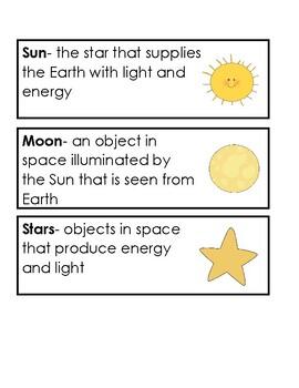 Science 21 Grade 1 Unit 1 Vocabulary