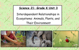 Science 21 Grade K Unit 3: Interdependent Relationships in Ecosystems
