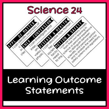 "Science 24 Learning Outcome ""I Can"" Statement Posters (Alberta)"
