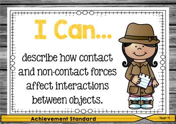 Science 4 - Did You Know & I Can Posters - Content Descriptors & Achievement