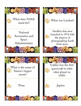 Science! 40 Q&A Fact Cards (Space)