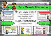 Science 5 - Did You Know & I Can Posters - Content Descrip