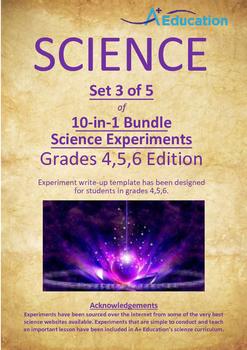 Science 5-IN-1 BUNDLE (Set 3 of 10) - Grades 4,5,6