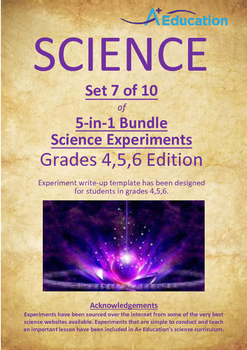 Science 5-IN-1 BUNDLE (Set 7 of 10) - Grades 4,5,6