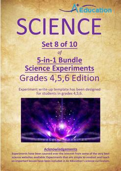 Science 5-IN-1 BUNDLE (Set 8 of 10) - Grades 4,5,6
